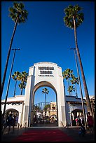 Entrance gate, Universal Studios. Universal City, Los Angeles, California, USA ( color)