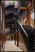 Stairs in Bradbury Building. Los Angeles, California, USA ( color)