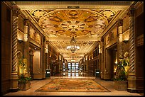Millenium Biltmore Hotel interior. Los Angeles, California, USA ( color)