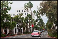 State Street on cloudy day. Santa Barbara, California, USA ( color)