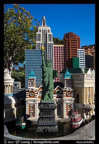 Las Vegas New York New York scale model, Legoland, Carlsbad. California, USA (color)