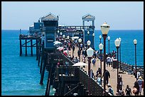 Lamps and pier, Oceanside. California, USA ( color)