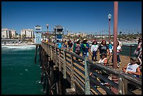 Looking from pier, Oceanside. California, USA ( color)