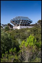 Geisel Library seen from parkland, UCSD. La Jolla, San Diego, California, USA ( color)