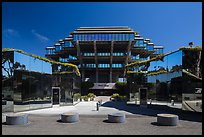 Entrance of Geisel Library, University of California. La Jolla, San Diego, California, USA ( color)