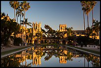 House of Hospitality and Casa de Balboa at sunset. San Diego, California, USA ( color)