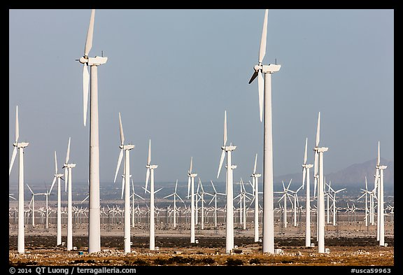 Wind farm, San Gorgonio Pass. California, USA (color)