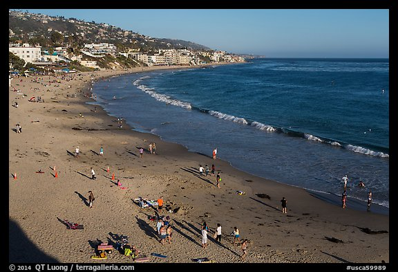 Beach seen from above. Laguna Beach, Orange County, California, USA (color)