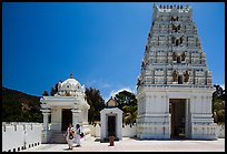 Women visiting Malibu Hindu Temple, Calabasas. Los Angeles, California, USA ( color)