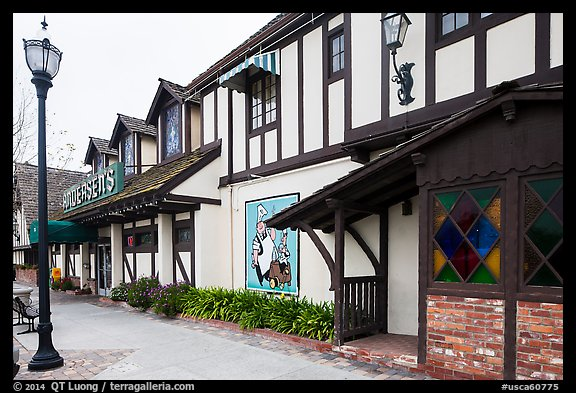 Andersen's half-timbered building. California, USA (color)