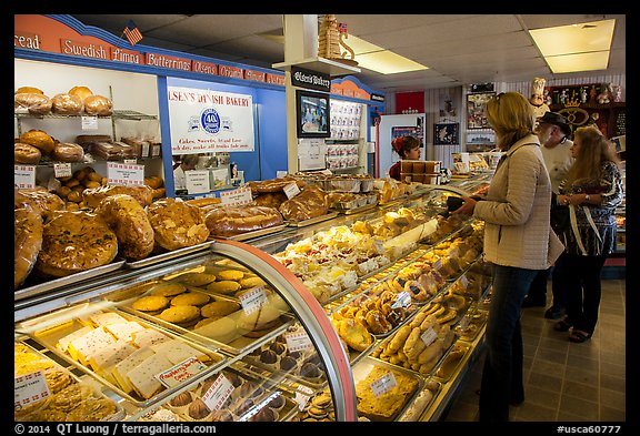 Danish Bakery. Solvang, California, USA (color)