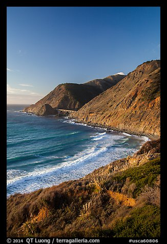 Cove and bridge in late afternoon. Big Sur, California, USA (color)