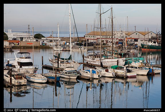 Moss Landing Marina. California, USA (color)