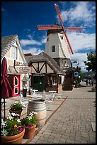 Bakery and windmill. Solvang, California, USA ( color)