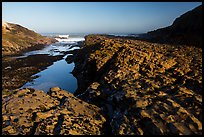 Rock rib, early morning, Spooners Cove, Montana de Oro State Park. Morro Bay, USA ( color)