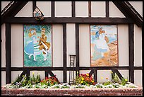 Mural decor on danish-style building. Solvang, California, USA ( color)