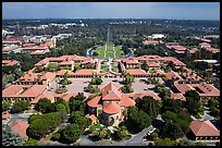 Aerial view of Main Quad. Stanford University, California, USA ( color)
