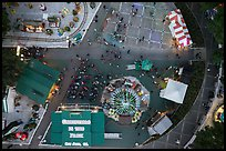 Aerial view of Christmas in the Park looking straight down. San Jose, California, USA ( color)
