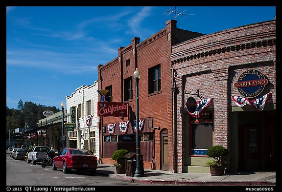 Historic buildings, Auburn. California, USA (color)
