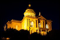 Placer County Courthouse at night, Auburn. California, USA ( color)