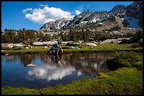 Alpine tarn, Twenty Lakes Basin, Inyo National Forest. California, USA ( color)