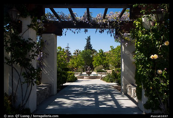 Entrance to memorial garden, Cesar Chavez National Monument, Keene. California, USA (color)