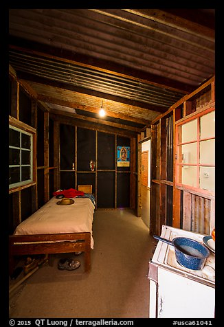 Reconstitution of Cesar Chavez room, Cesar Chavez National Monument, Keene. California, USA (color)