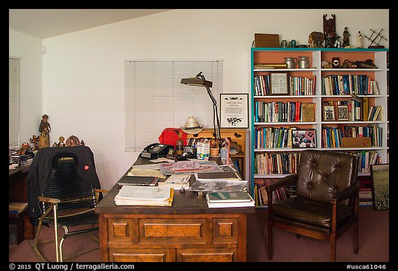 Cesar Chavez office, Cesar Chavez National Monument, Keene. California, USA (color)