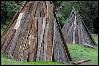 Coast Miwok shelters, Olompali State Historic Park. Petaluma, California, USA ( color)