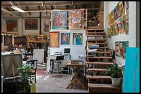 Painters studio. Berkeley, California, USA ( color)