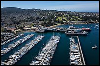 Aerial view of harbor. Monterey, California, USA ( color)