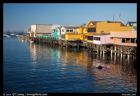 Wharf. Monterey, California, USA (color)