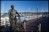 Statue of fisherman on wharf. Monterey, California, USA ( color)