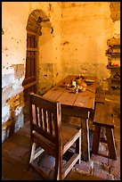 Dining table, Mission San Miguel. California, USA ( color)