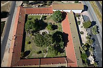 Aerial view of the four walls of Mission San Miguel. California, USA ( color)