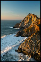 Surf and Coastline, Devils slide, late afternoon. San Mateo County, California, USA ( color)