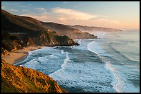 Surf, Grey Whale Cove and Montara. San Mateo County, California, USA ( color)