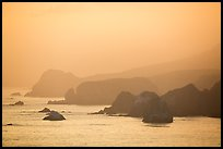 Coastline at sunset, Jenner. Sonoma Coast, California, USA ( color)
