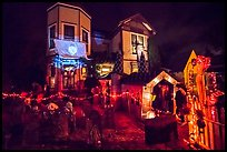 House decorated for Halloween. Petaluma, California, USA ( color)