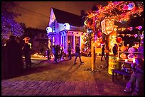 House with Halloween party. Petaluma, California, USA ( color)