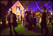 Revellers dance for Halloween. Petaluma, California, USA ( color)