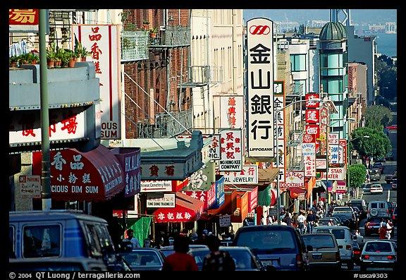 Picture photo chinatown street san francisco california usa