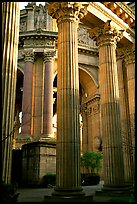 Columns of the Palace of Fine arts. San Francisco, California, USA