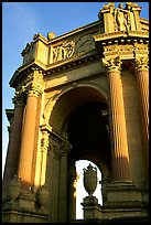 Rotunda of the Palace of Fine arts, late afternoon. San Francisco, California, USA