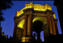 Rotunda of the Palace of Fine arts, night. San Francisco, California, USA (color)
