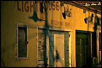 Old warehouse, sunset, Fisherman's Wharf. San Francisco, California, USA (color)