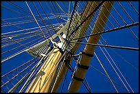 Masts of the Balclutha, Maritime Museum. San Francisco, California, USA