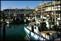 Fishing boats, Fisherman's Wharf. San Francisco, California, USA