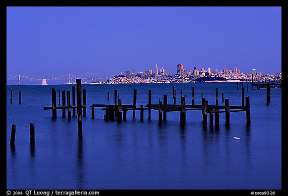 City  seen from Sausalito. San Francisco, California, USA