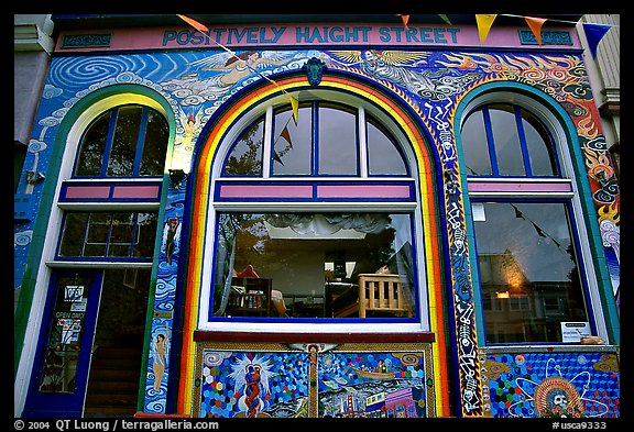 Positively Haight Street, Haight Ashbury district. San Francisco, California, USA (color)